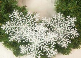 $enCountryForm.capitalKeyWord Canada - 1800pcs lot hot Christmas Ornament White Plastic Snowflake Christmas 6cm Tree  Window Christmas Decorations For Home