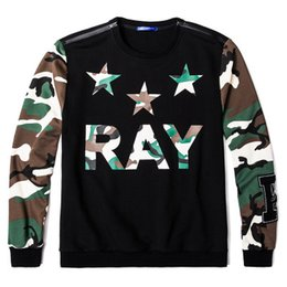 T-shirt Manches Longues Pour Garçons Pas Cher-T-Shirts pour Homme Plus Size Tees 2017 Autumn Boys Camuflage Print Polos Hommes Full Sleeve Tops Hommes Hip Hop Vêtements XL-6XL A143
