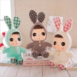 $enCountryForm.capitalKeyWord NZ - 6 Colors 1PC Stuffed Bunny Ear Doll Toys Baby Plush Rabbit ear Doll Gifts for Girls 25cm Grasping Comforting Doll