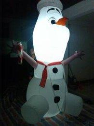 Ventilador de ar livre profissional inflável empresa maravilhoso caráter inflável boneco de neve inflável para venda com ligghting colorido