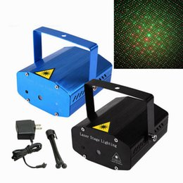 Discount laser ship - DHL ship Mini Laser Stage Lighting Light Lights Starry Sky Red & Green LED R&G Projector indoor music DISCO DJ Party wit