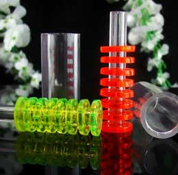 acrylic water glasses Australia - Wholesale Glass water pipes fittings Acrylic eight-layer mute filter