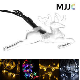 $enCountryForm.capitalKeyWord Canada - Solar Powered Deer Shape String Light 20 LED String Lights Crystal Christmas Decorative Lamps for Outdoor Indoor Garden Lawn Patio Wedding