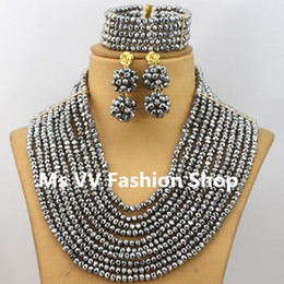 $enCountryForm.capitalKeyWord Canada - 2019 latest arrival African Jewelry Sets silver Nigerian Beads Jewelry Set Fashion Costume Jewelry Set item silver star necklace set