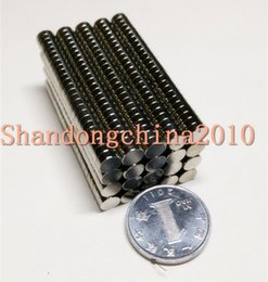 $enCountryForm.capitalKeyWord Australia - Wholesale - In Stock 1000pcs Strong Round NdFeB Magnets Dia 4x2mm N35 Rare Earth Neodymium Permanent Craft DIY Magnet Free shipping