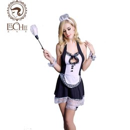 Hot Sexy Lingerie Women Costume NZ - 2017 Leechee Y062 latex women sexy lingerie black lace hot hollow maid uniform costumes prospective underwear sexy shop