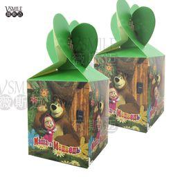 $enCountryForm.capitalKeyWord NZ - 6pcs Masha & Bear cartoon lovely festival favor wedding birthday party decoration paper candy box Gift Box Cupcake Box suppliers