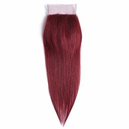 Barato Comprar Barato Laço-Compre 2 Obter 3 So CHEAP Elegant Red Hot Selling Human Virgin Hair Closure Frontal Swiss Lace Hair Closure 4 * 4 Hair Closure