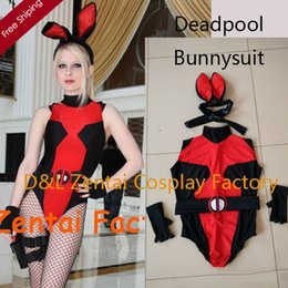 $enCountryForm.capitalKeyWord Canada - Free Shipping DHL Real Photo Sexy Bunnysuit Deadpool Zentai Catsuits Lycra Spandex Halloween Costume One Piece Suit SH112309