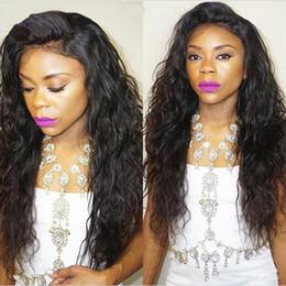 Long Hairs Canada - Full Density Long Wavy Glueless Full Lace Wigs Peruvian Water Wave Hair Wig Full Lace Front Human Hair Wigs