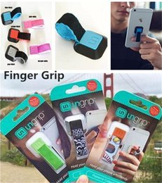 Wholesale New Universal Ungrip phone Holder Mobile Phone Ring Finger Stand Lazy Stent UN Grip Phone Buckle Ring Holders for iphone plus S8 Ipad