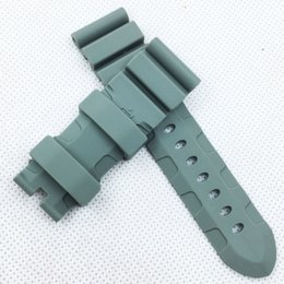 pam band strap UK - 24mm 120 75mm Fashion Gray Silicone Rubber Water proof Sport Band Strap for PAM LUNMINOR RADIOMI