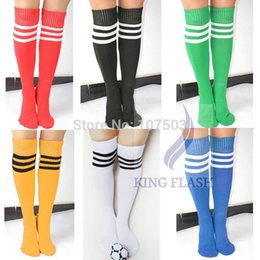 0a4b6a49b Knee High White Socks Red Stripes Canada - Wholesale-2016 Hot Sales Women  Pure color