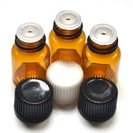 Amber glAss bottles screw online shopping - ml Clear Glass Essential Dram Oil Amber Bottle Perfume Sample Tubes Bottle With Plug And Caps
