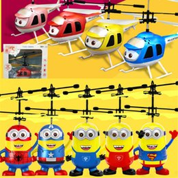 Wholesale Toys Helicopter NZ - RC Drone Flying Ball Aircraft Helicopter Led Flashing Light Up Toys Induction Electric Toy Drone For Kids Children Christmas gifts