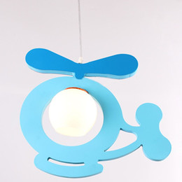 $enCountryForm.capitalKeyWord NZ - Cartoon Wooden Airplane Children Light Cute Kids Room Small Plane Lamp Baby Room Bedroom Pendant Lights