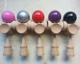 TradiTional japanese games kids online shopping - 5 cups skill ball beech pu paint ball Kendama Ball CM Japanese Traditional Wood Game Kids Toy Kendamas balls