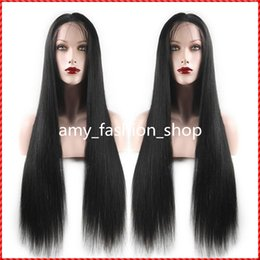 indian beautiful long hair UK - Brazilian full lace human hair wigs or Full Head Lace Front Wig Natural long straight wigs for beautiful women