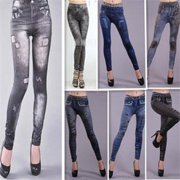 Look Sexy Jean Pas Cher-2016 Hot Sale Women Sexy Tattoo Jean Look Leggings Punk Sport Academies Habillement Jeans impression sans couture Big yards pantalon ultra élastique 50