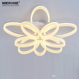Discount led decorative chandelier fixtures 2018 decorative led discount led decorative chandelier fixtures acrylic flush ceiling lights white light frame home decorative lighting fixtures aloadofball Images