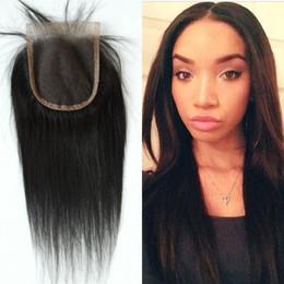 cheap virgin hair closures 2019 - Cheap Human Hair Lace Closure Free Middle Three Part Virgin Peruvian Straight Hair Top Closures Baby Hair cheap cheap vi