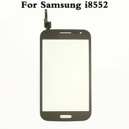 $enCountryForm.capitalKeyWord Canada - 10pcs lot Original Touch Screen Digitizer Sensor Front Glass Lens For Samsung Galaxy Win GT-i8552 i8552 Black White Or Blue