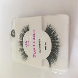 Hair B Canada - Hot Sale Sexy Women Black Luxurious Natural Hair Thick Eye Lashes False Eyelashes For Make up Beauty