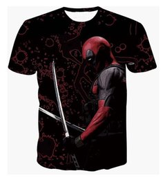Chinese  Newest American Comic Badass Deadpool 3D T shirt Tees Women Men Funny Cartoon Characters T shirts Hipster Street tshirts Tops manufacturers