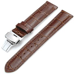 $enCountryForm.capitalKeyWord UK - 2016 Watch Band Genuine Leather Watch Belt Brand Watch Leather Strap Waterproof Pin Buckle Wrist Watchband Free Shipping