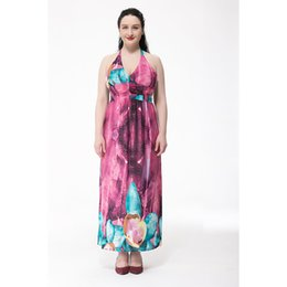 Discount Plus Size Maxi Silk Summer Dress | 2017 Plus Size Maxi ...