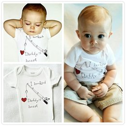 $enCountryForm.capitalKeyWord Australia - I Hooked Daddy's Heart printed baby boy girl bodysuit Newborn kids fashion Clothes Girls Babygrows Playsuit 2016 cotton high quality Rompers