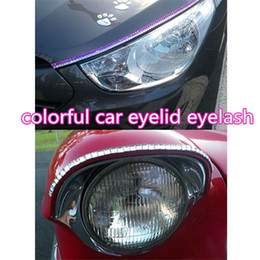 headlight eyelashes UK - Car Eyelashes for Car Headlights car Rhinestone Crystal eye line eyelid eyelash auto Lamp Sticker decoration atp224