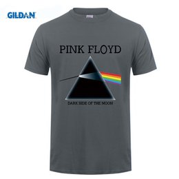 Camisa Rosa Oscuro Hombres Baratos-USAprint New Men T Shirt Designers Pink Floyd Print camiseta Dark Side of the Moon Ropa Rock Roll Music Top manga corta