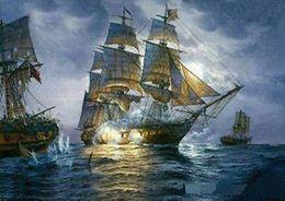 $enCountryForm.capitalKeyWord NZ - Framed ship sailing nautical Free Shipping Hand-painted  HD Print Seascape Art oil painting On Canvas Multi sizes