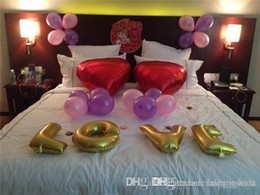 Wholesale Party Supplies Balloon Backdrop For Weddings Wedding Decoration Party Solid Color Foil Letter Number Balloons Birthday Party Decoration