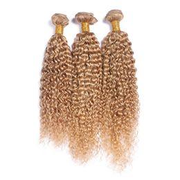 $enCountryForm.capitalKeyWord UK - Brazilian Deep Curly Honey Blonde Brazilian Hair 3Pcs Lot 8A Brazilian Curly Human Hair Blonde Extensions Dhl Free Shipping