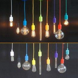 DIY Persönlichkeit 13 bunte Silikon geflochtene Seil einzigen Kopf Pendelleuchte moderne kurze Dekoration Bar Kabel E27 Lampe