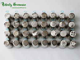 Integral formando bicos de flores russa 32 pcs aço inoxidável icing piping bicos cupcake rose pastelaria diy dicas de decoração do bolo venda por atacado