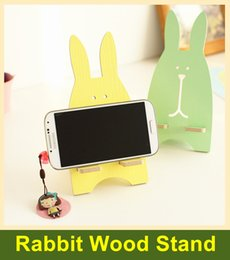 $enCountryForm.capitalKeyWord Canada - Universal Smart Phone Stand Mount Desk Holder Cute Rabbit Wooden for iPhone 6s 6 Plus 5s 5c 4s, Samsung Galaxy Android Cell Phones-111
