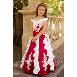 $enCountryForm.capitalKeyWord UK - Beautiful Newest Cheap 2016 Girl's pageant Dress Applique Kids Formal Wear Princess Ball Gown Girl's Dresses