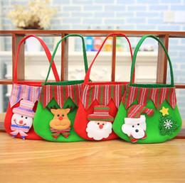 snowman decorations 2019 - 19*17cm Christmas colorful bag apple gift bag for children Non-woven Snowman Santa Claus candy bags christmas decoration
