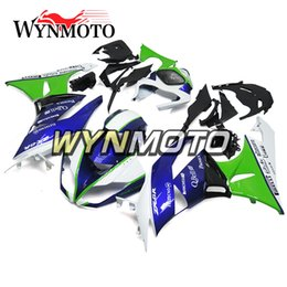 ninja motorcycle frame NZ - High Quality Carenes for Kawasaki ZX-6R 2009 2010 2011 2012 ABS Plastic Injection Body Frames Motorcycle Ninja636 Covers Green Blue Cowlings