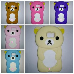 purple phone covers 2019 - 3D Bear Rilakkuma Phone Protective Relax Soft Silicone Case For Samsung Galaxy S7 G9300 G930  S7 Edge G935 Cute Lovely R