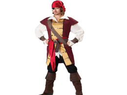 Costumes De Costumes De Couple Pas Cher-Costumes d'Halloween Costumes pour hommes et femmes Costumes de pirate Cosplay Fancy Dress Up Costume de jeu de rôle de fête d'Halloween