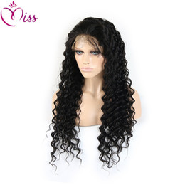 Deep Curly Indian Lace Wig Canada - Brazilian Human Hair Loose Curly Glueless Full Lace Wigs 6A Lace Front Human Hair Wigs Deep Curly Hair Lace Front Wig