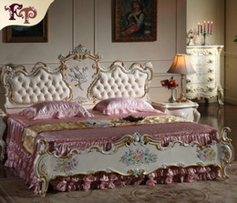 Kings furniture online shopping - French Provincial furniture bedroom rococo style queen bed high end classic villa furniture king bed size