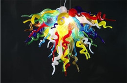 $enCountryForm.capitalKeyWord Canada - Multi Colored Murano Glass Pendant Lamps Modern Art Glass Crystal Livingroom Decoration Chandelier for Free Shipping with Unique Designed