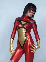 $enCountryForm.capitalKeyWord Canada - L@@K!!! spandex zentai superhero costume metallic spider woman S-XXL