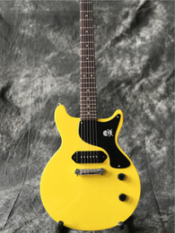 String picS online shopping - New arrival hot selling electric guitar yellow color one piece bridge pickup real guitarra pics high quality