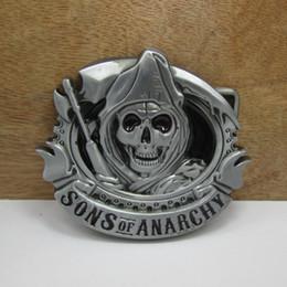 BuckleHome Crânio cinto fivela de cinto de filme com acabamento de estanho FP-03039 frete grátis